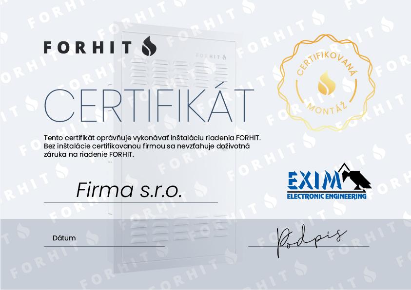 certifikat forhit